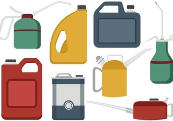 Free Oil Can Vector - vector gratuit #365773