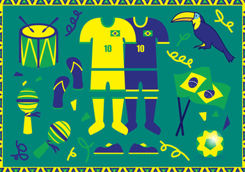Brasil Illustrations Vector - бесплатный vector #365803