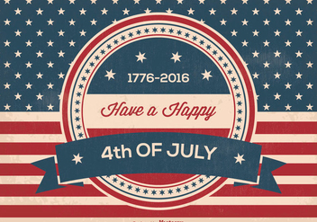 Retro Independence Day Illustration - vector gratuit #365863