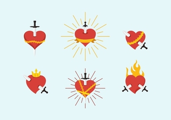 FREE SACRED HEART VECTOR - Free vector #365893