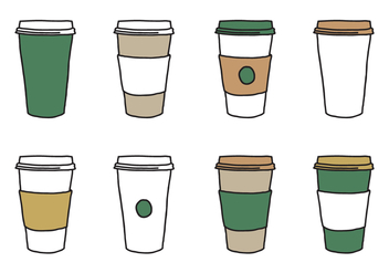 Coffee Sleeve Cup Vectors - бесплатный vector #365913