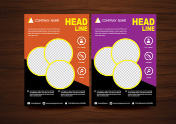 Vector Brochure Flyer design Layout template in A4 size - Kostenloses vector #365943