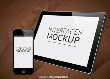 2 screen interfaces mockup - Free vector #365973