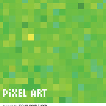 Green pixel pattern - Free vector #365983