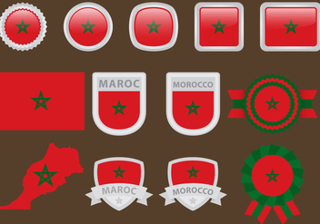 Maroc Flags - Free vector #366043