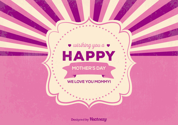 Retro Mother's Day Illustration - vector #366053 gratis