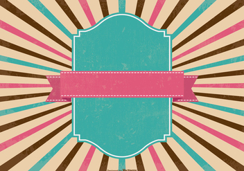 Colorful Retro Sunburst Background - Free vector #366083