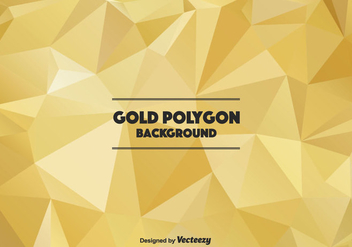 Polygonal Gold Vector Background - vector gratuit #366103