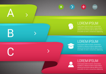 Free Colored Banners Vector - vector #366113 gratis