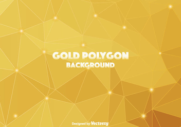 Gold Polygonal Vector Background - vector gratuit #366153
