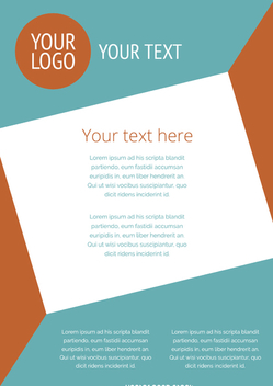 Flyer template - Free vector #366173