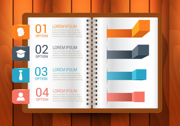 Free Book Infographics Vector - бесплатный vector #366213