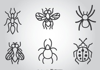 Insects Hand Drawn Vector Icons - бесплатный vector #366293
