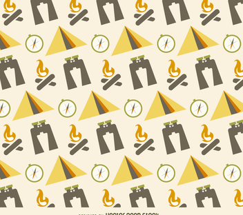 Flat camping pattern - Kostenloses vector #366313