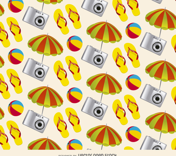 Beach tourism pattern - vector gratuit #366343