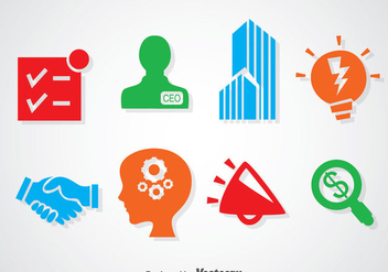 Enterpreneurship Colorful Icons - Kostenloses vector #366443