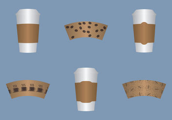 Free Coffee Sleeve Vector Illustration - vector gratuit #366553