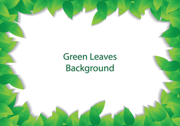 Green Leave Background - Kostenloses vector #366593