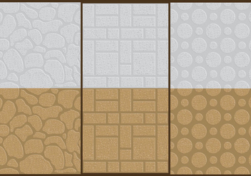 Stone Wall Textures - Free vector #366723