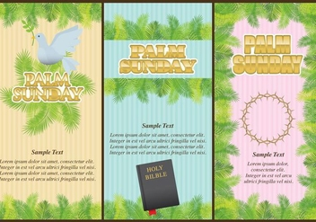 Palm Sunday Flyers - vector gratuit #366793