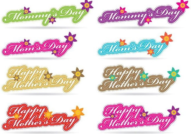 Mothers Day Titles - vector gratuit #366823