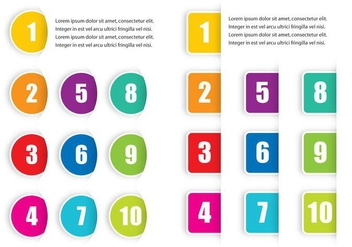 Colorful Bullet Points - Kostenloses vector #366843