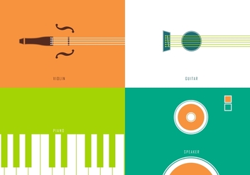 Minimal Music Instrument Vectors - бесплатный vector #366853