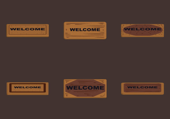 Free Welcome Mat Vector Illustration - vector gratuit #366953