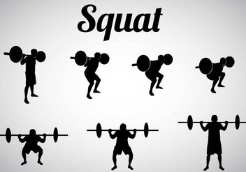 Free Squat Silhouettes Vector - Free vector #367023