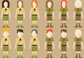Boy Scout Characters - бесплатный vector #367093