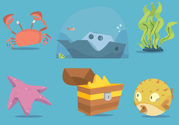 Sunken Ship Vector Art - vector #367133 gratis