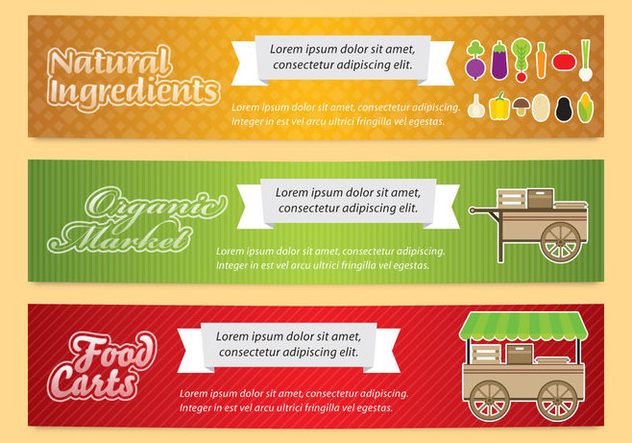 Food Cart Banners - бесплатный vector #367243