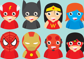 Superhero Kid Vectors - Free vector #367273