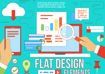 Free Flat Design Vector Elements - vector #367283 gratis