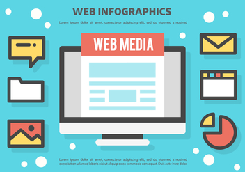 Free Web Infographics Vector Background - Free vector #367313