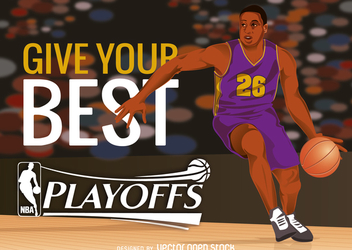 NBA playoffs - vector #367343 gratis