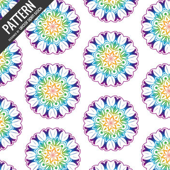 Mandala flower pattern - Free vector #367353