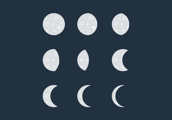Free Moon Phase Vectors - бесплатный vector #367433