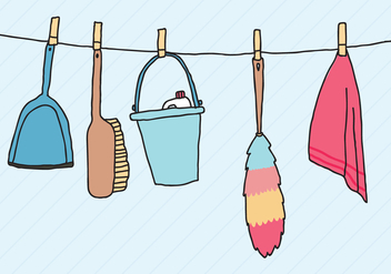 Preparing the Spring Cleaning - vector gratuit #367503