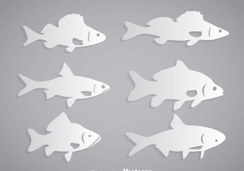 Fish White Vector - vector gratuit #367633