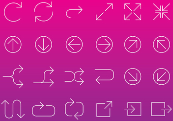 Line Arrow Icon Vectors - vector gratuit #367643