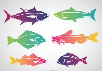 Fish Colorful Vector - бесплатный vector #367683