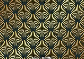 Vector Gold Seamless Pattern With Elegant Shapes - Free vector #367813