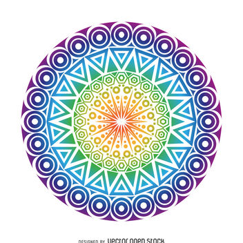 Circle mandala design - Free vector #367873