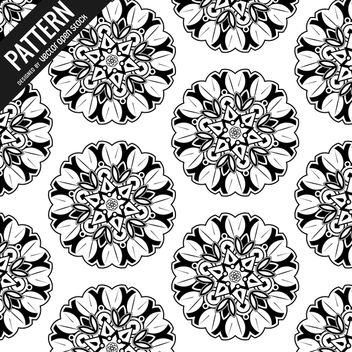 Mandala pattern background - Free vector #367893