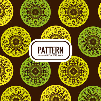 Mandala pattern background - Free vector #368033