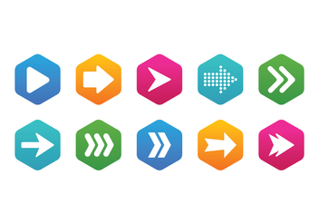 Arrow Icon Set - vector gratuit #368103