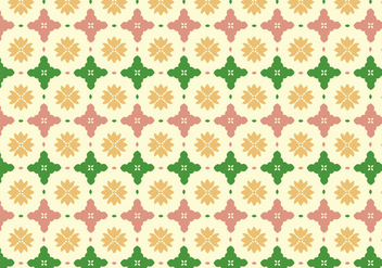 Floral Tile Pattern Background - Free vector #368113