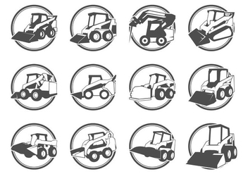 Skid Steer Logo Vector - бесплатный vector #368243