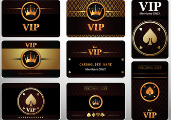 Set of VIP Cards Casino Royale - Free vector #368373